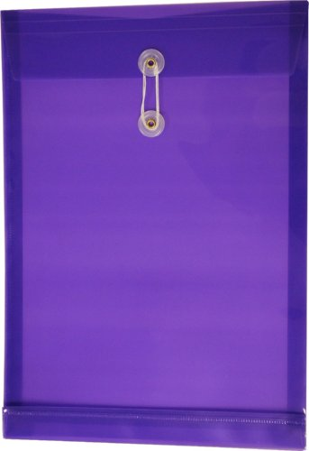 Filexec Poly envelope, Legal size, Top load, Button string closure, Purple (Pack of 6) (50057-14104) ()