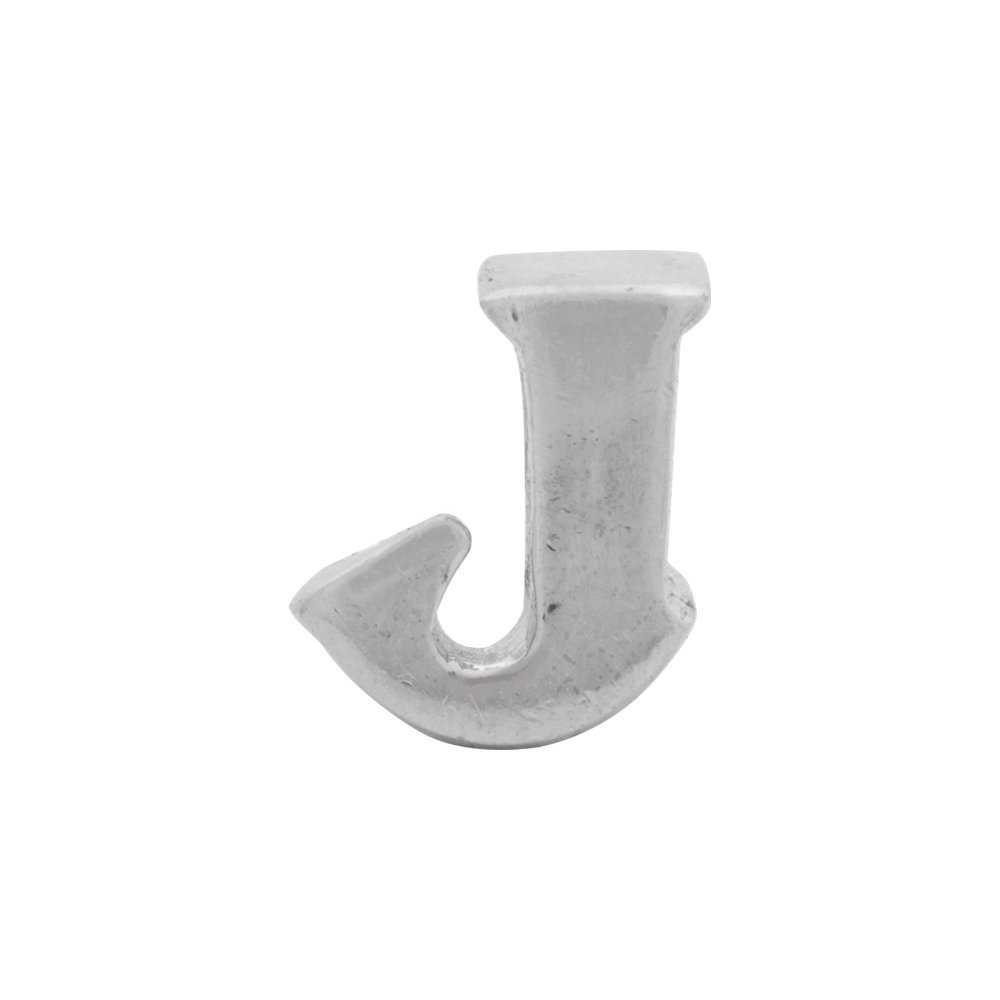 Solid 925 Sterling Silver Reflections Letter J Bead 7.3mm x 8.2mm