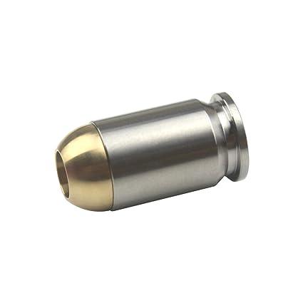 Amazon.com: Colgante con forma de bala de titanio con cordón ...