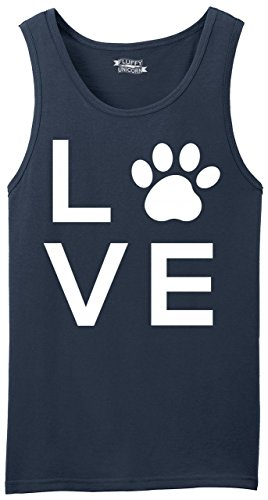 Men's Tank Top Love Dog Big Graphic Navy (Big Dog Tank Top)