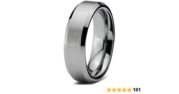 Tungsten Ring Blue Cross Wedding Band Men Women Religious Set Or Single Ring Grey Polished 8MM 6MM Size 5 to 14 Anniversary Engagement Gift