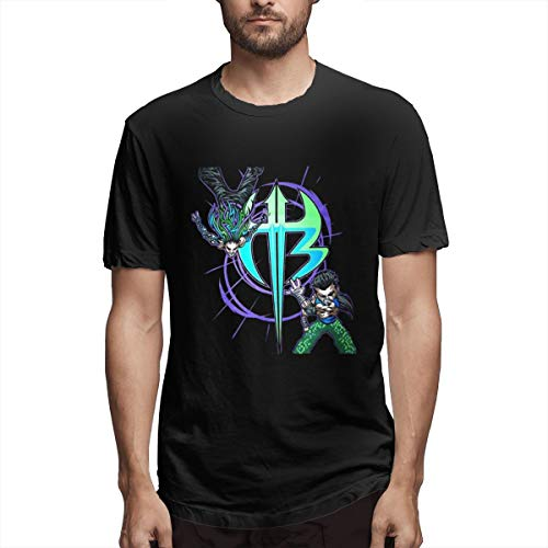 Bloonmer Men's Classic Cartoon Jeff Hardy Logo Comfortable Shirs Black