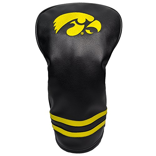 Team Golf NCAA Iowa Hawkeyes Vintage Driver Golf Club Headcover, Form Fitting Design, Retro Design & Superb ()