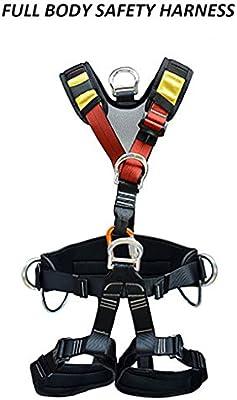 WCYBELT Arnés de seguridad para escalada de cuerpo completo para ...