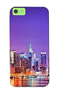 Stylishgojkqt Premium New York Skyline Heavy-duty Protection Design Case For Iphone 5c