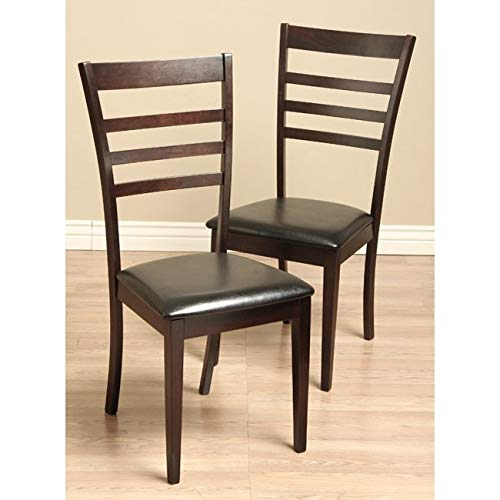 Warehouse of Tiffany Crystal Leather Dining Room Chairs (Set of 2)