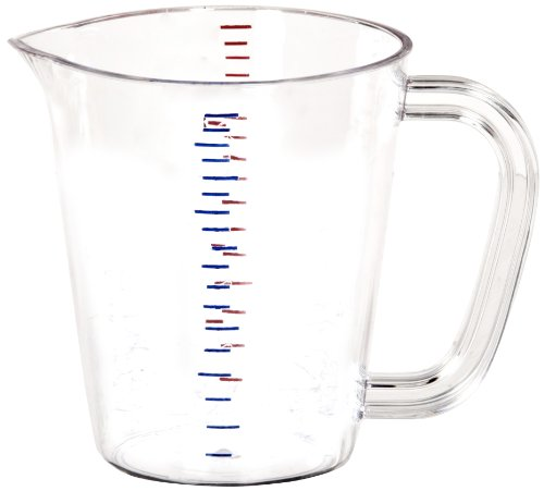 """Carlisle 4314207 Polycarbonate Measuring Cup, 16 oz. Capacity, 4.75 x 5.13 x 4.19"""", Clear (Case of 6)"""