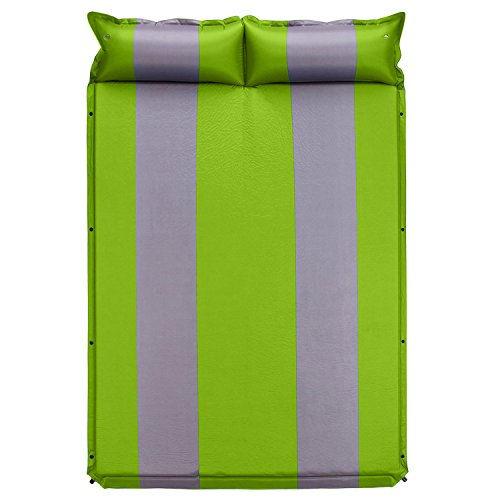 Happylife 2 Person Self-Inflating Sleeping Pad with Pillow, Waterproof Thickened...