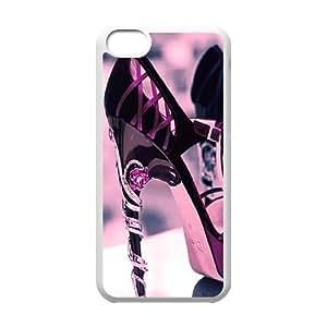 Purple Heels Custom Case for Iphone 5C, Personalized Purple Heels Case