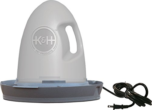 K&H Pet Products K&h Thermo Poultry Waterer Gray 2.5 GALLON