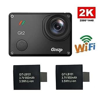 Sile Gitup Git22K 30FPS Novatek 966601080P WiFi Acción Casco de deportes al aire libre impermeable cámara DVR con llavero, color con Extra 2 Batterie