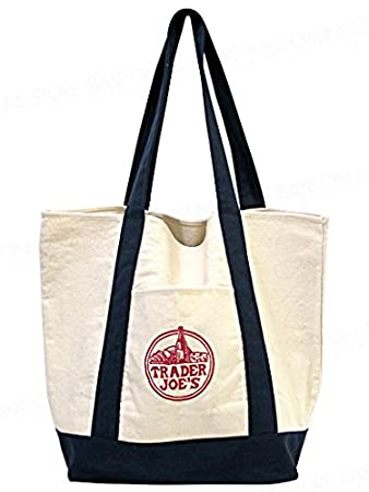 Reusable Fashion Tote Bag From Trader Joes. Heavy-duty Cotton ...