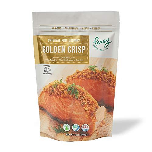 Bread Crumbs (12oz) - Golden Crisp Wheat Bread Crumbs - Bread Crumbs for Coating & Stuffing - Coat Burger, Schnitzel, Vegetables, Meatballs - Resealable Packaging