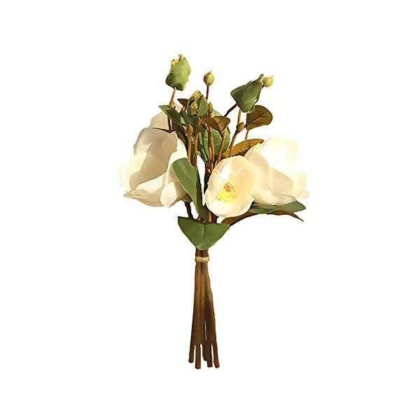 Fightingfly 2pack Artificial Magnolia Flowers 8 Branches Fake Real