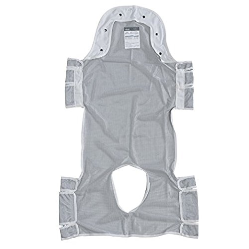 Drive Medical 13233d Patient Lift Sling with Head Support, Gray