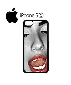 LJF phone case Sexy Red Lips Lesbian Girl Naked Cell Phone Case Cover iphone 6 4.7 inch Black