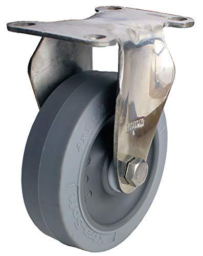 um Duty Rigid Plate Caster, 325 lb. Load Rating 04XS05051RGN - 1 Each ()
