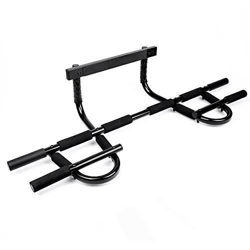 Sportneer Chin Up Bar Multi-Grip Pull Up Bar Doorway Trainer for Home Gym, Holds Up to 330 lb