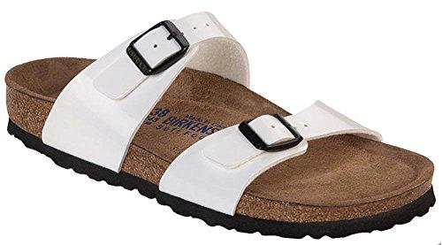 Birkenstock - Sandalias de vestir de material sintético para mujer blanco Bianco 40