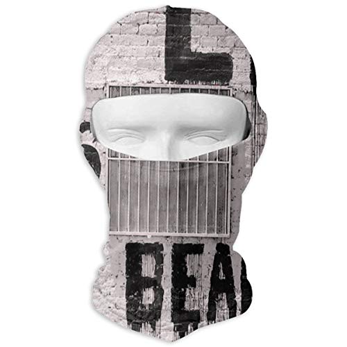 Leopoldson Banksy Life is Beautiful Balaclava UV Protection Windproof Ski Face Masks for Cycling Outdoor Sports Full Face Mask Breathable ()
