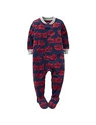 """Carter's Little Boys' Toddler """"Firetruck Fleet"""" Footed Pajamas"""