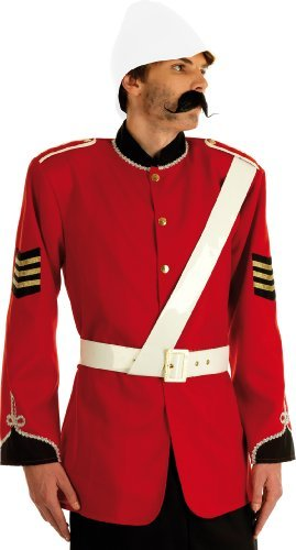 Medium Red Men's Boer War British Soldier Costume