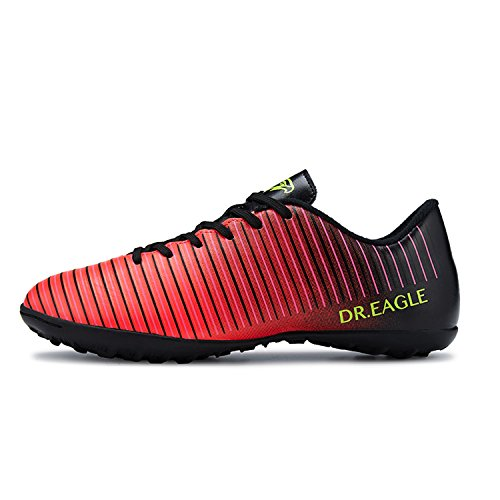 MOOKEY Football Shoes Men's Sport Soccer Shoes Training :Cozy Lightweight Non-Slip Fine Workmanship Red 0m03n7