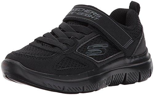 Skechers Kids Boys' Flex Advantage 2.0-97458L Sneaker,Black/Black,1.5 M US Little Kid