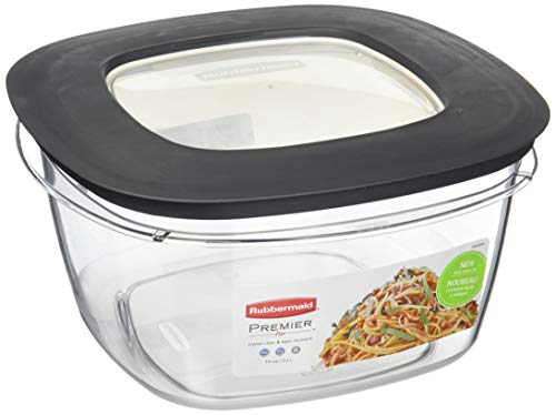 Rubbermaid Premier Food Storage Container, 14 Cup, Grey. Pack of 3