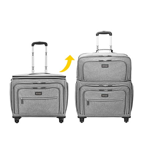 Biaggi Luggage Lift Off Expandable Carry-on to Check In, Grey
