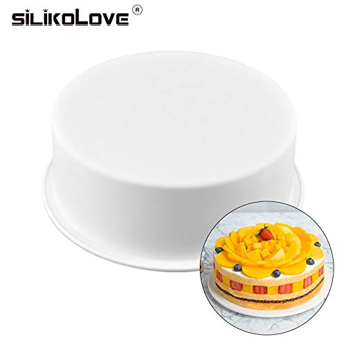 SILIKOLOVE Round Mould Silicone Mold Shaped 3D Black Silicone Cake Mold Baking Decoration Tools Cake Pan New Kitchen Goods