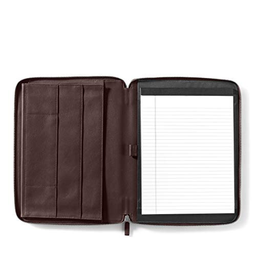Leatherology Executive Zippered Portfolio with Interior iPad Pocket - Full Grain Leather Leather - Brown (Brown) ()
