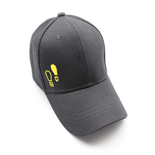 (♛TIANMI Hat for Men'sSummer Casual Mans Cotton Embroidered Baseball Caps AdjustableBlack)