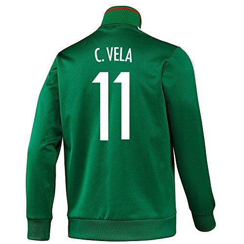 放映協定説明Adidas C. Vela #11 Mexico Track top Soccer Jacket/サッカー トレーニングジャケット メキシコ カルロス?ベラ 背番号11