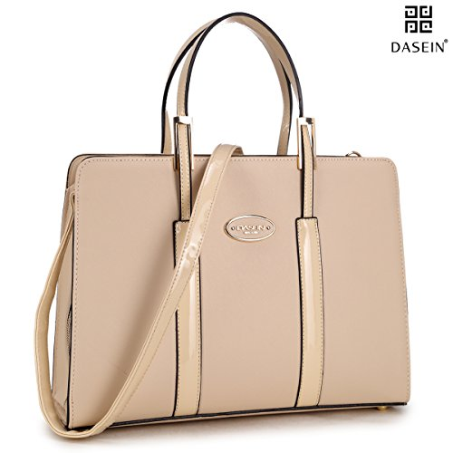 dasein-women-top-handle-pu-leather-clamshell-style-satchel-briefcase-handbag-tablet-ipad-bag-work-pu