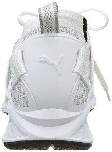 Puma Ignite Evoknit Lo, Zapatillas de Running para Hombre Blanco (Puma White-vaporous Gray-puma Black 02)