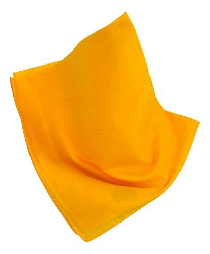 Unifarbenes Nickituch/Bandana in leuchtendem Gelb