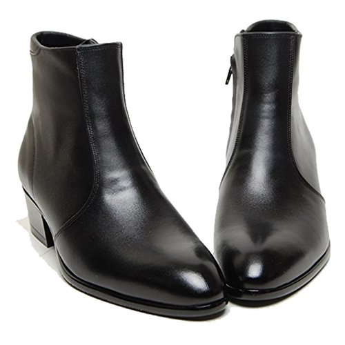 - Epicsnob Mens Shoes Black Cow Leather Dress Formal Casual Chelsea Zip Line Ankle Boots 8 M US