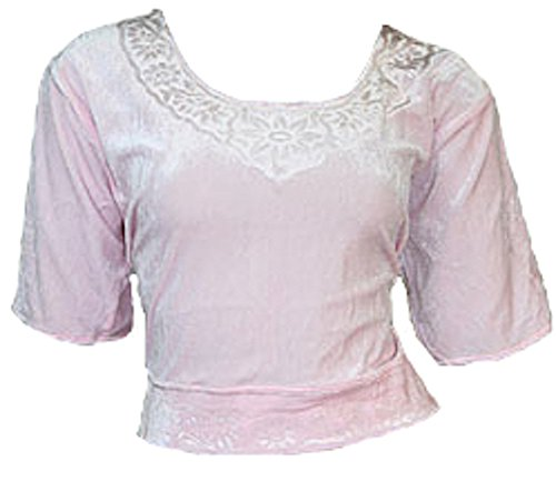 Rose Choli haut en velours ideal avec un sari Size S