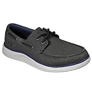 Concept 3 by Skechers Men's Igler Canvas Slip-on Boat Shoe Sneaker