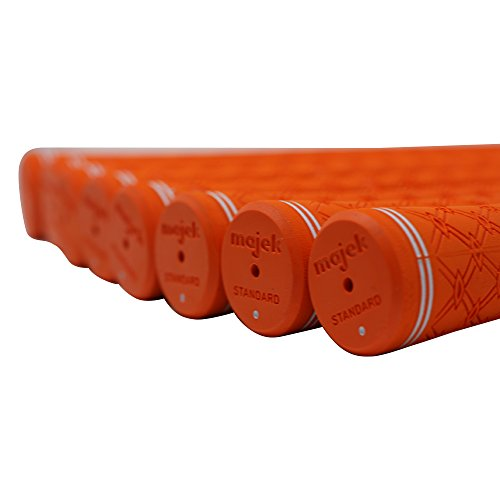 150 pcs - Majek Tour Pro Orange Standard Golf Grips by Majek Grips (Image #1)
