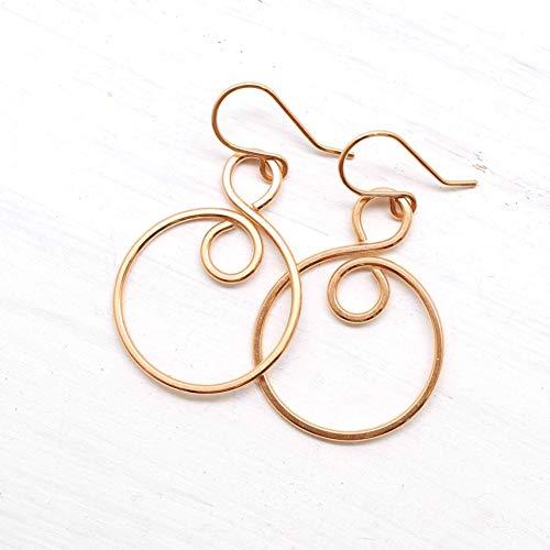 oop Handmade Wire Wrapped Earrings ()