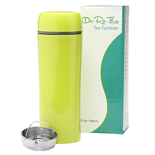 Do Re Tea Stainless metal Tea Tumbler together with Strainer 12 Oz Leakproof and Insulated Tea around Mug trim and eye-catching pattern together with sift Commuter around Mugs