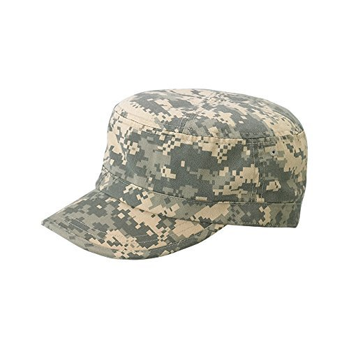 Wholesale Enzyme Washed Cotton Army Cadet Castro Hats (Digital Camo) - 20769  One Size