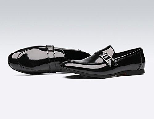 HWF Scarpe Uomo in Pelle Scarpe casual in pelle per uomo daffari. Mocassini stile inglese da uomo, scarpe da uomo singolo (Colore : Nero, dimensioni : EU44/UK8.5) Nero