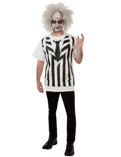 [Rubie's Costume Beetlejuice Costume Shirt And Wig, Multi, X-Large] (Zombie Bald Cap)