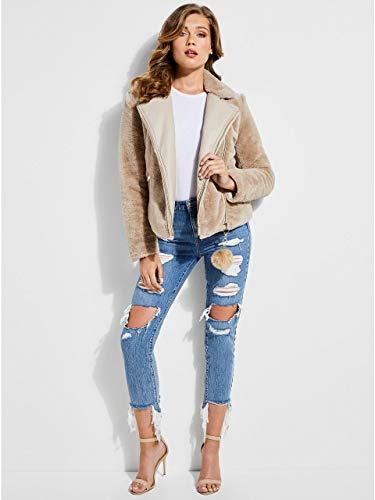 Allegra Beige Reversible Guess by Jacket dwHdOF