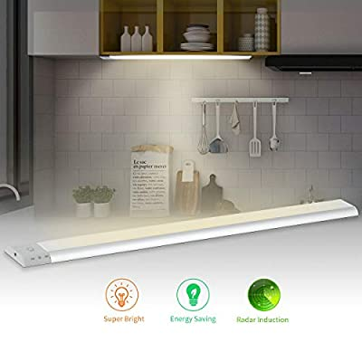 Motion Sensor Light,LED Under Cabinet Lighting 4000K,700 lm,108 LEDs with Sensor Switch Touch Control Kitchen Decorations Plug-in,16.6 inch Cabinet Lights for Kitchen Cabinet, Counter, Workbench etc.