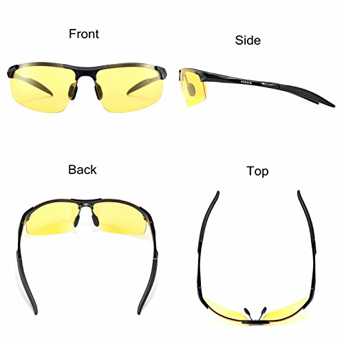 5ef61d4b62 ... Soxick Mens HD Metal Polarized Night Driving Glasses Sports Sunglasses  ...