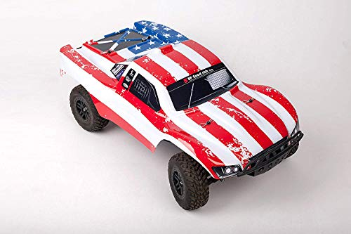(SummitLink Compatible Custom Body Flag Star Style Replacement for 1/10 Scale RC Car or Truck (Truck not Included) SS-FS-01)